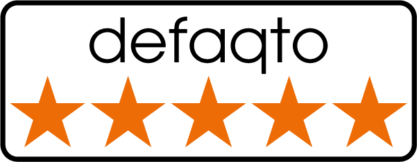 Rated 5 stars by Defaqto