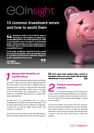 Investing Errors