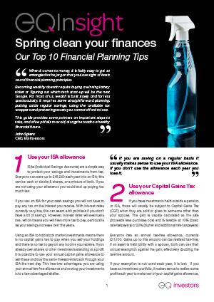 10 Planning Ideas