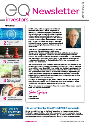 EQ Investors Newsletter Summer 2018