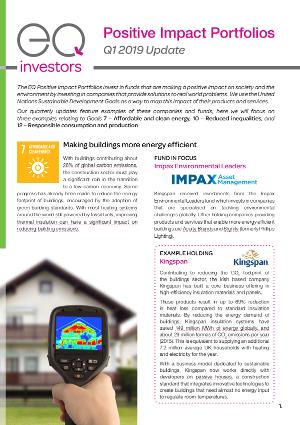 Positive Impact Portfolios - February 2019