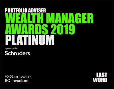 Portfolio Adviser | Wealth Manager Awards 2019